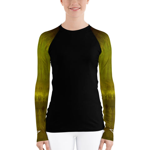 Chartreuse Ombre Sleeved Insignia Women's Rash Guard