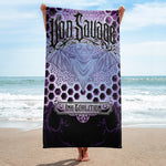 Adam O'Brien Violet Bat Towel