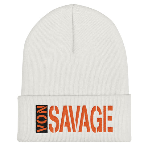 VS TAG Orange and Black Threads Cuffed Beanie
