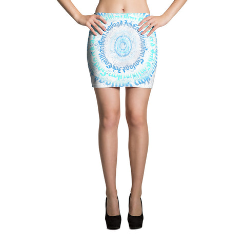 BlackLetterRitual Calligrafitti Frost Women's Mini Skirt