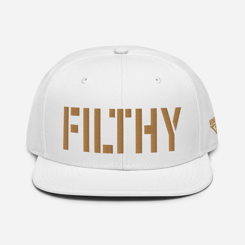Filthy Old Gold Threads Snapback Hat
