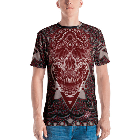 Adam O'Brien Maroon Skull Men's T-shirt