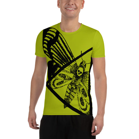 Tim Harden Death Moth NT Green Men's Athletic T-shirt
