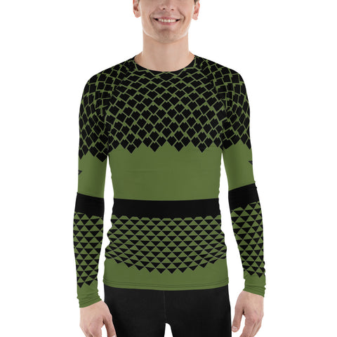 Polynesian Olive Drab Men's Rash Guard