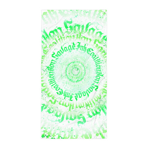 BlackLetterRitual Calligrafitti Key Lime Towel
