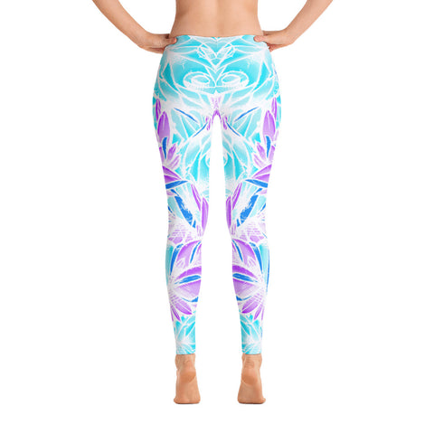 Jeremy Harburn Aqua Rose Leggings