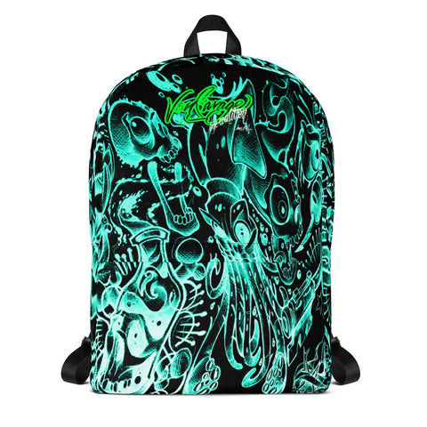 Jeremy Harburn Flash Sheet Aqua Backpack