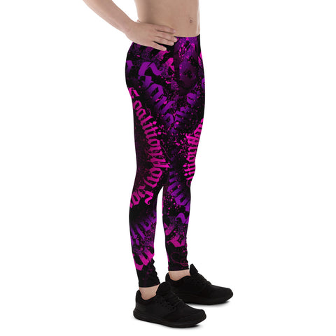 BLR Calligrafitti Pink/Purp Men's Leggings