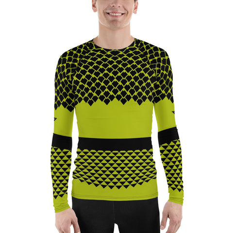 Polynesian NT Green Men's Rash Guard