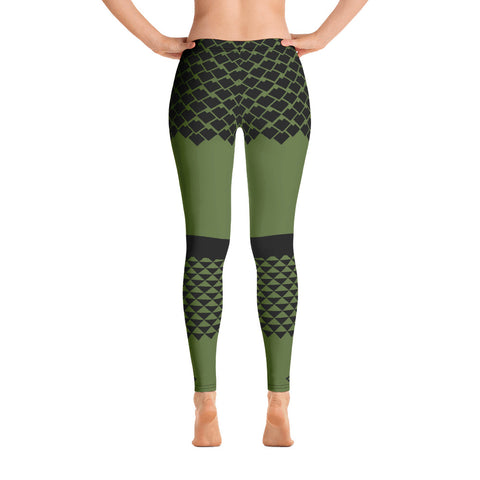 Polynesian Olive Drab Leggings
