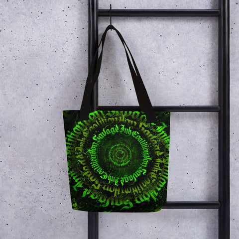 BlackLetterRitual Calligrafitti Toxic Tote bag