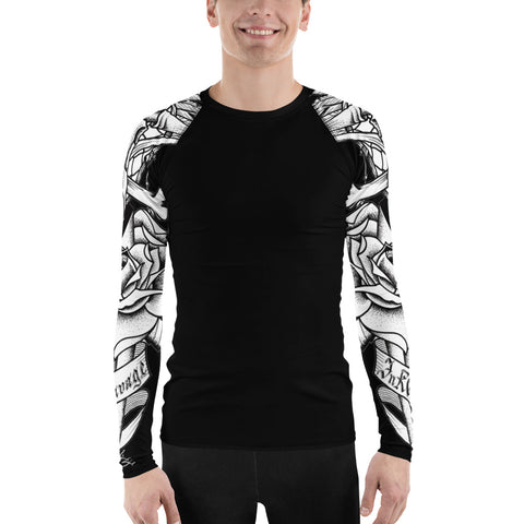 Rik Sharp Skull and Dagger Men's Rash Guard