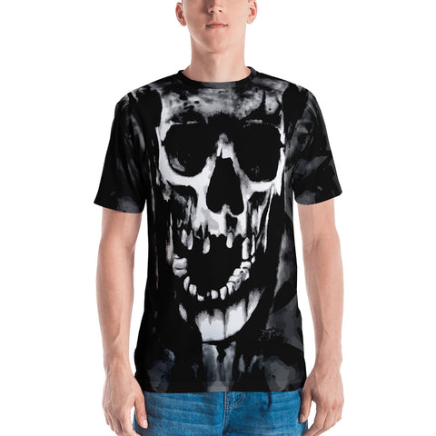 John Todd Water Skuller Black and Grey Men's T-shirt