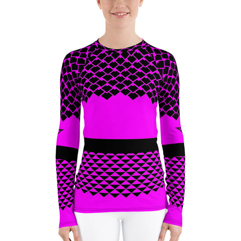 Polynesian Pink Women's Rash Guard