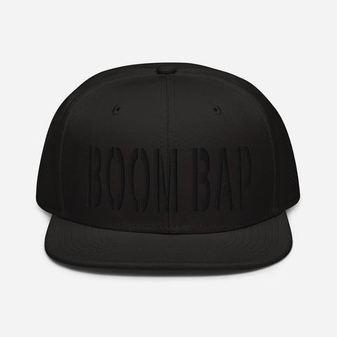 BOOM BAP Black Threads Snapback Hat