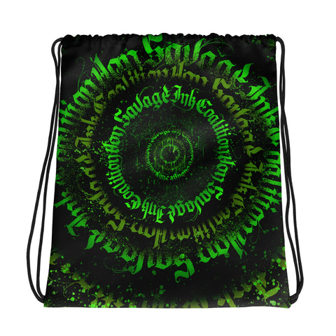 BlackLetterRitual Calligrafitti Toxic Drawstring bag