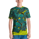 Levon Miller Nade Skull High yellow Men's tee