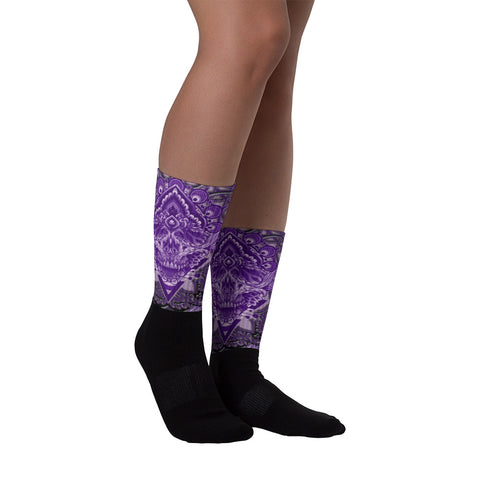 Adam O'Brien Purple Skull Socks
