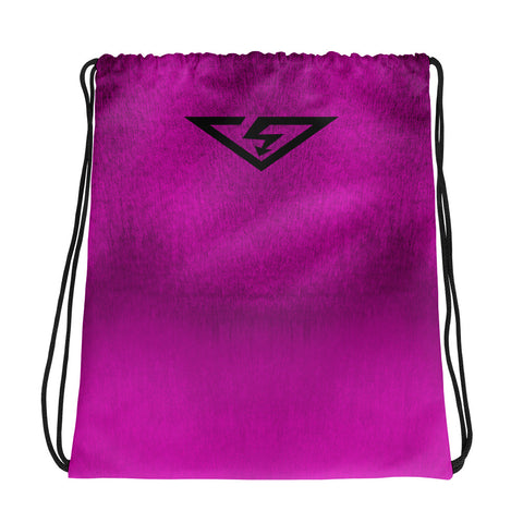Pink Ombre Drawstring bag