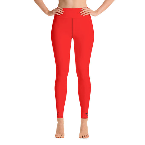 Yoga Leggings Red
