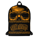 G2GBay SKULL FACE Orange Backpack