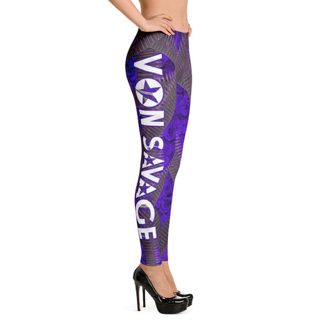 Von Savage Ammo Rose Purple Leggings