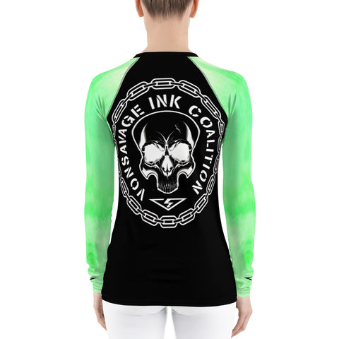 Cucumber Ombre Insignia Women's Rash Guard