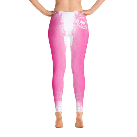 Destroy Pink/White Insignia Leggings