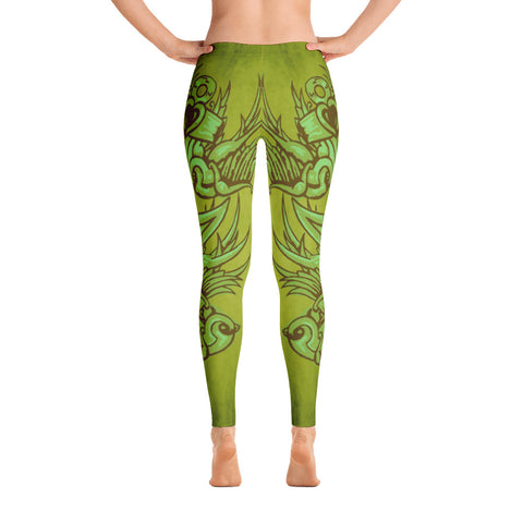 Todd Boling Green Sparrow Leggings