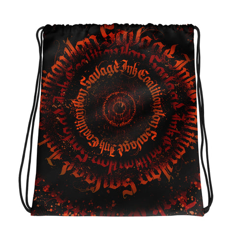 BlackLetterRitual Calligrafitti Rage Drawstring bag