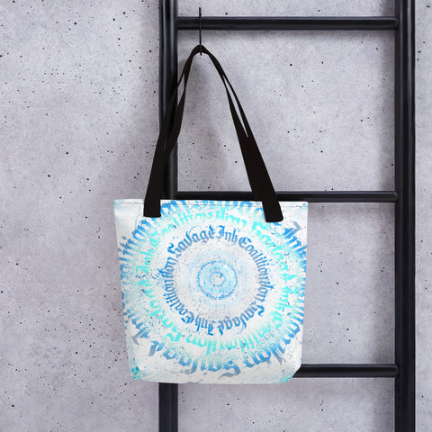 BlackLetterRitual Calligrafitti Frost Tote bag
