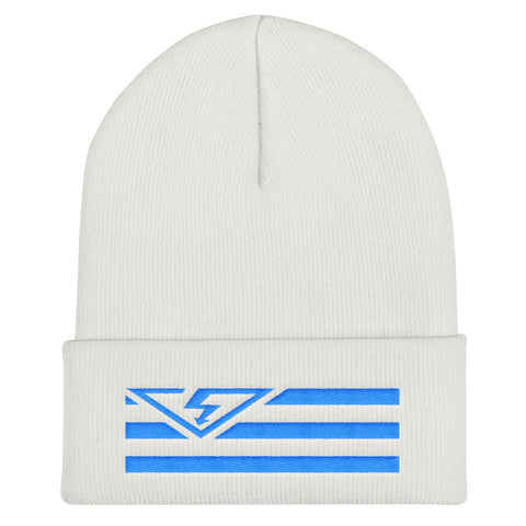 VS FLAG Aqua/Teal Threads Cuffed Beanie