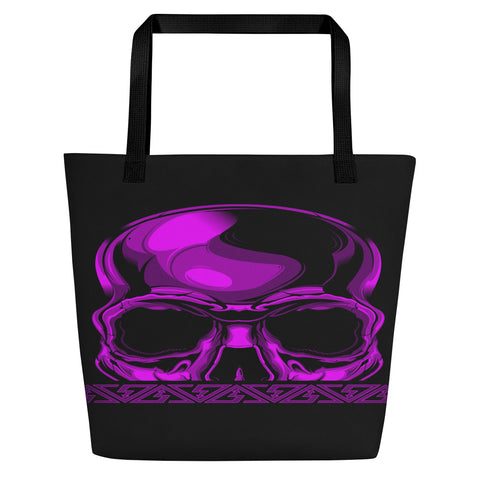 G2GBay SKULL FACE Purple Beach Bag