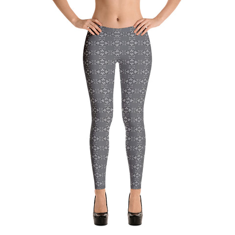 "Nebula Drawings ""Danger"" Grey Leggings"