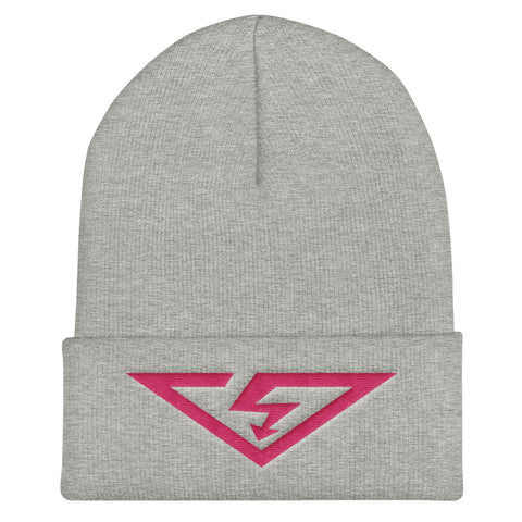 VS Logo Flamingo Threads Cuffed Beanie
