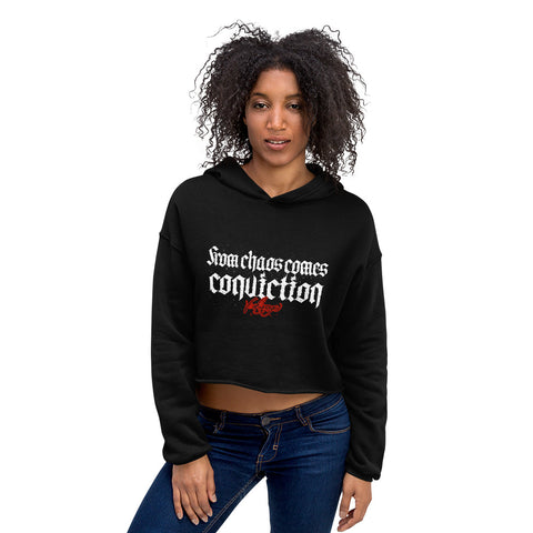 BlackLetterRitual Conviction Women's Crop Hoodie