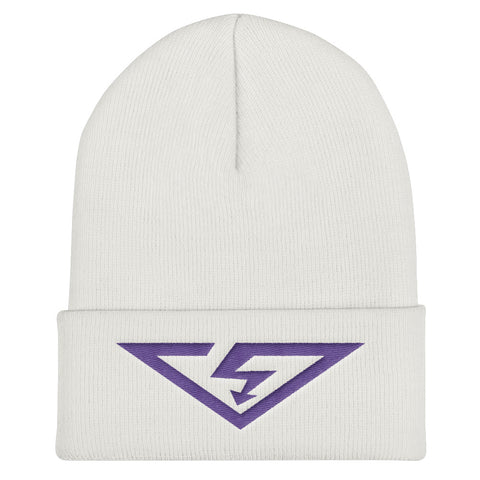 VS Logo Purple Threads Cuffed Beanie