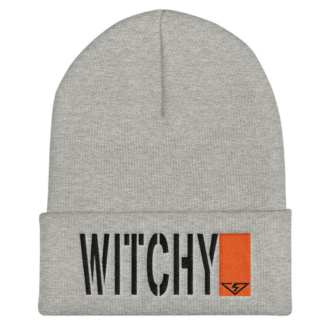 WITCHY Black and Orange Threads Cuffed Beanie