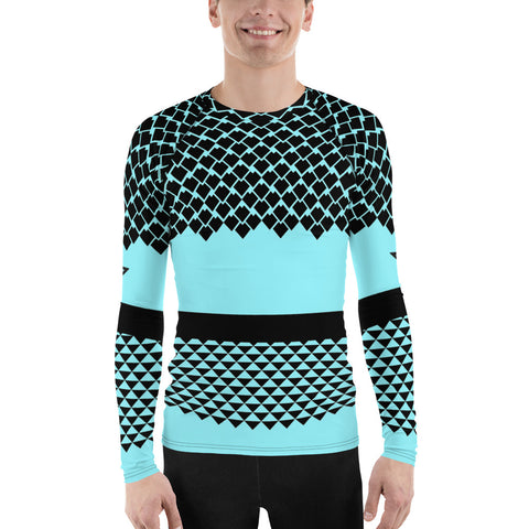 Polynesian Cyan Men's Rash Guard
