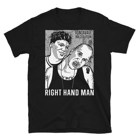 DAMN SIDE NECK Right Hand Man T-Shirt