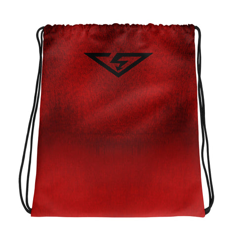 Red Ombre Drawstring Bag