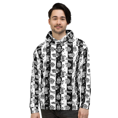 Savage Pattern Striped Unisex Hoodie