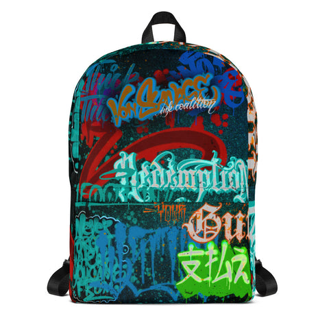 "BlackLetterRitual ""Redemption"" Backpack in Black/Frost"