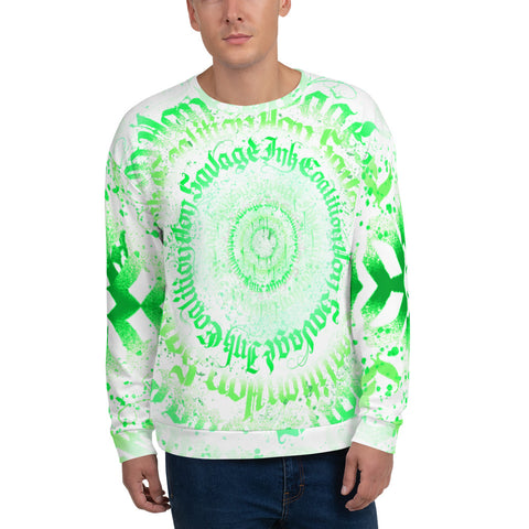 BlackLetterRitual Calligrafitti Key Lime Unisex Sweatshirt