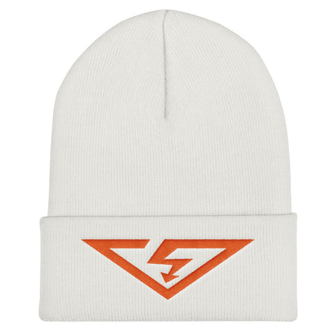 VS Logo Orange Threads Cuffed Beanie