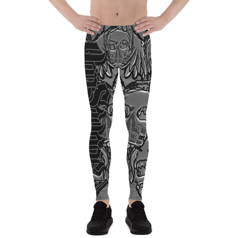 Levon Miller Nade-Skull Black and Grey Men's Leggings