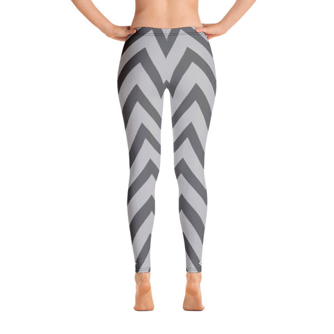 Chevron Black and Grey Leggings