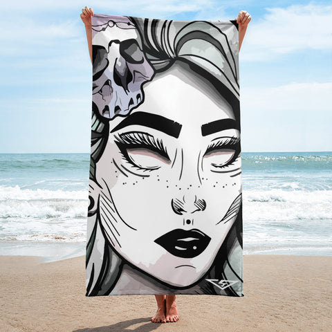 Polaris Draws Beach Towel