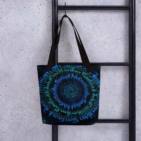 BlackLetterRitual Calligrafitti Midnight Tote bag