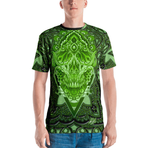 Adam O'Brien Green Skull Men's T-shirt